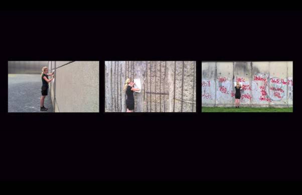 Ana Sladetic, Standbild aus dem Video Memory of the Berlin Wall